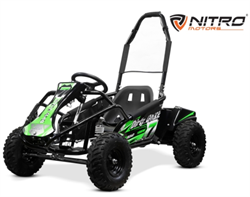 Torino Buggy GoKid Dirty 1000W, 48V Green 30 km/t