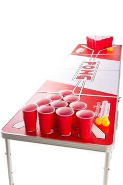 Stanlord Beer Pong bord foldebar incl 48 krus + 48 bolde